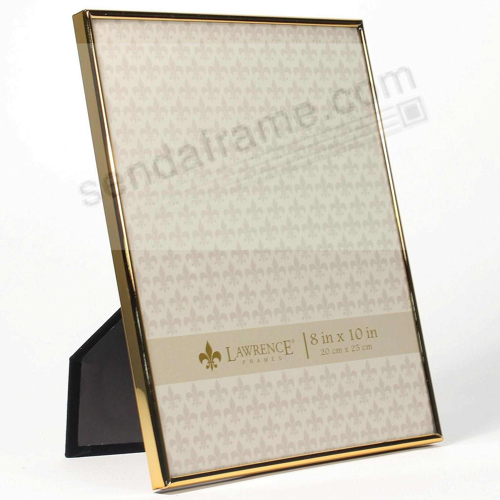 Polished SIMPLY GOLD 8x10 frame by Lawrence®