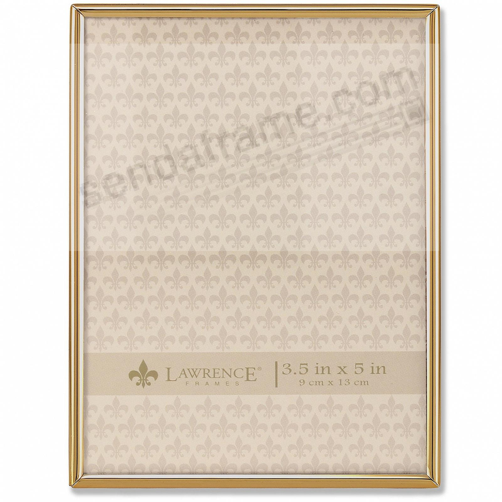 Polished SIMPLY GOLD 3½x5 frame by Lawrence®