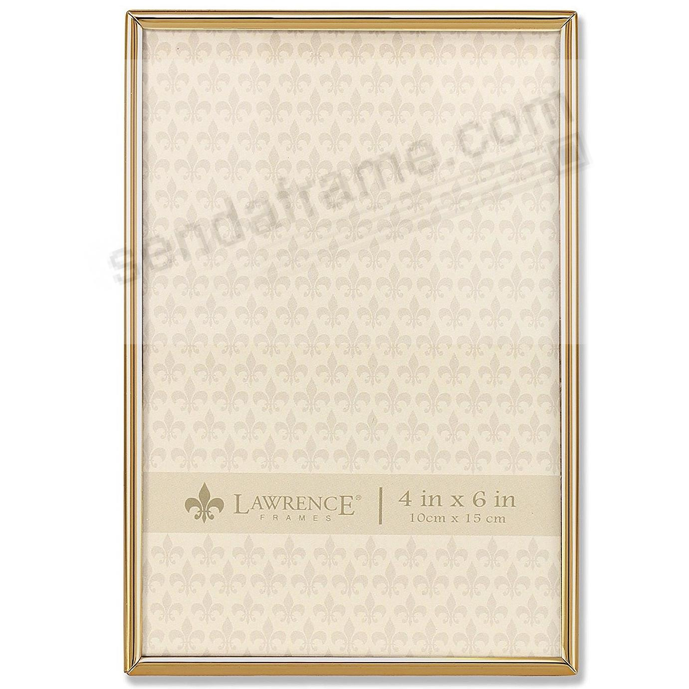 Polished SIMPLY GOLD 4x6 frame by Lawrence®