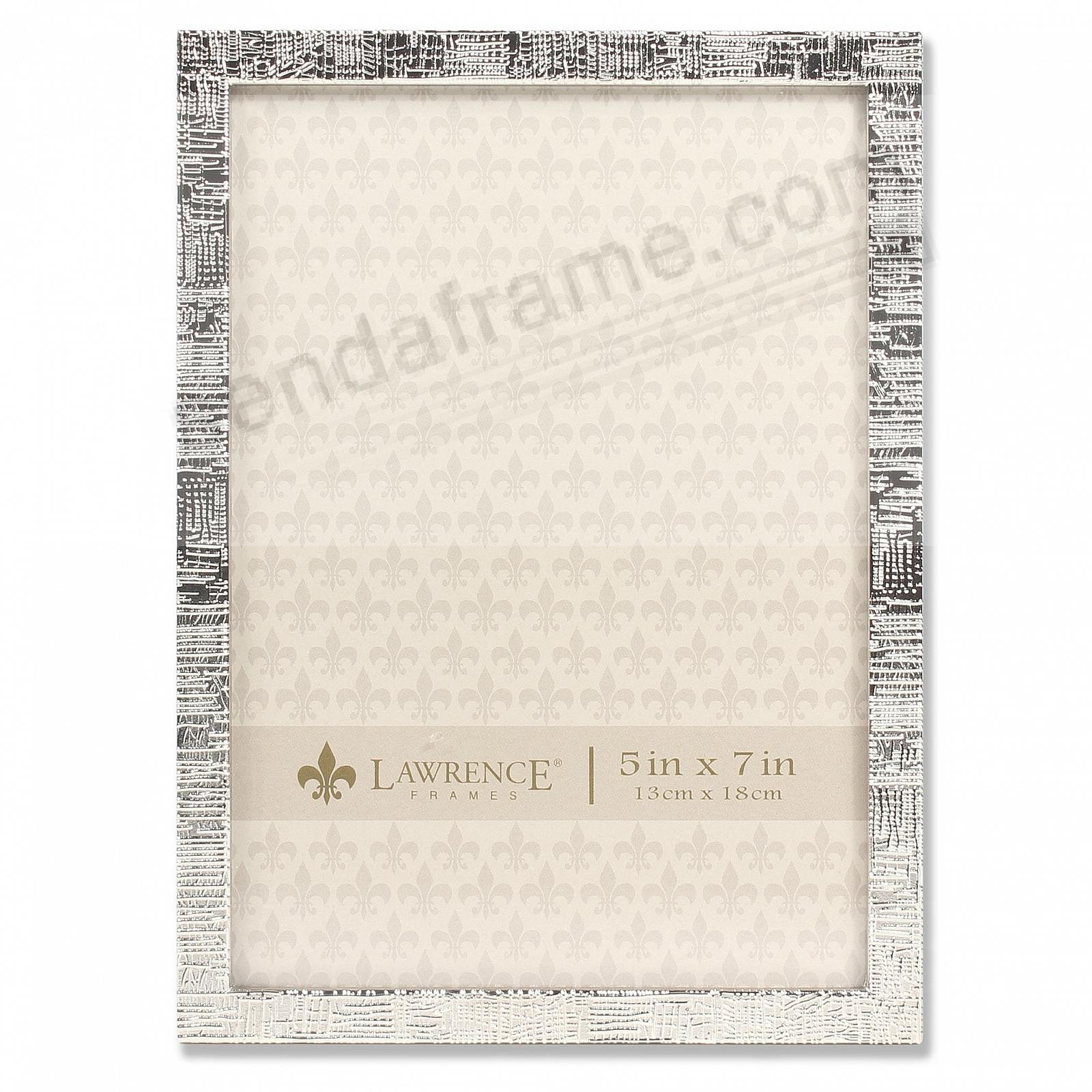 SILVER LINEN Pattern frame by Lawrence Frames®