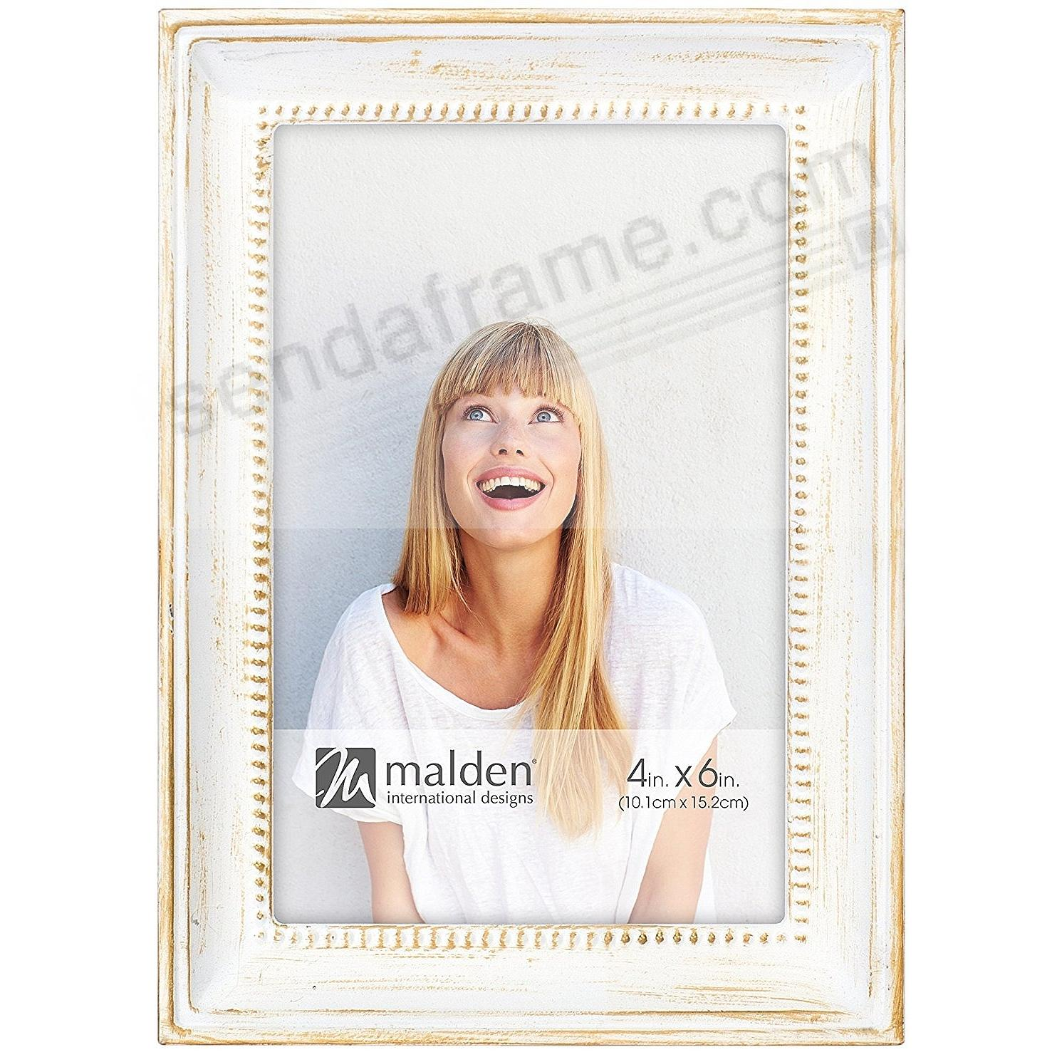 SUTTON WHITE-WASH on Beaded METALLIC frame by Malden®