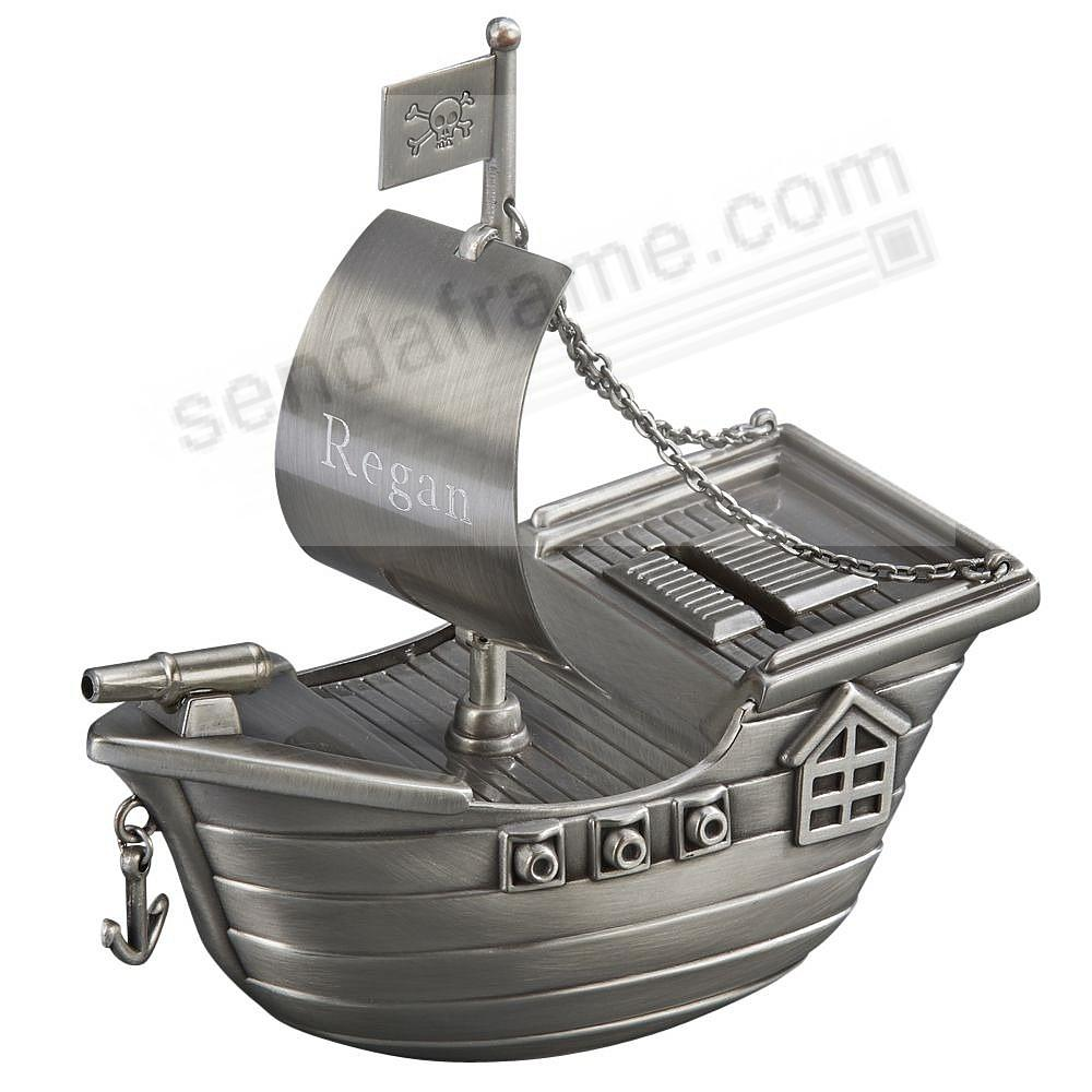 PIRATE SHIP Bank Makes Savings Fun - Engraved!