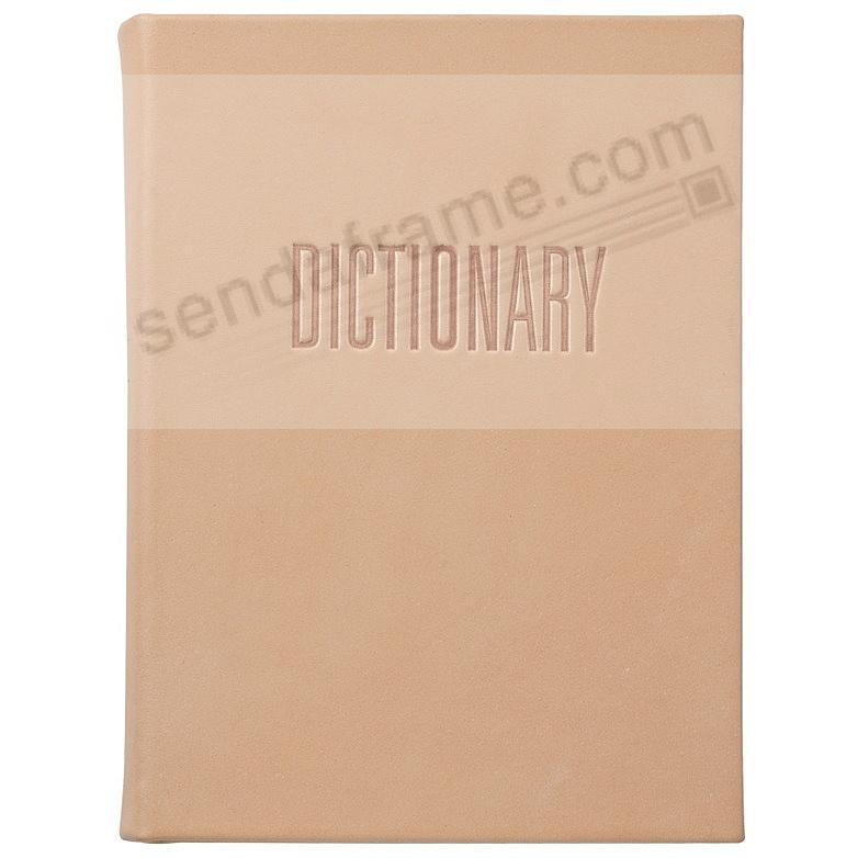 Merriam-Webster Collegiate DICTIONARY Natural Vachetta Leather by Graphic Image®