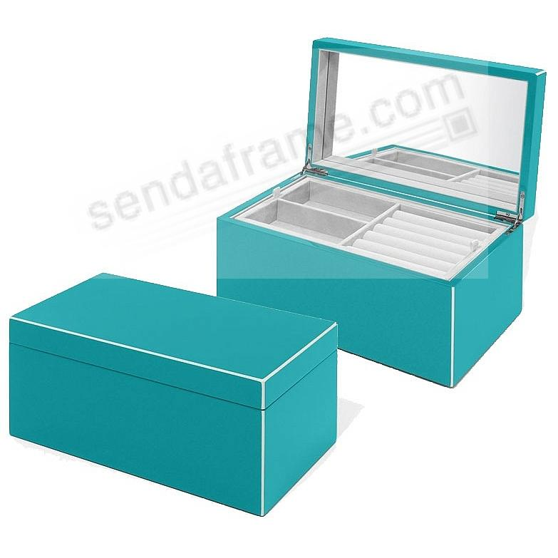 The Original ELLE Jewelry Box Ocean-Blue Lacquer by Swing Design®