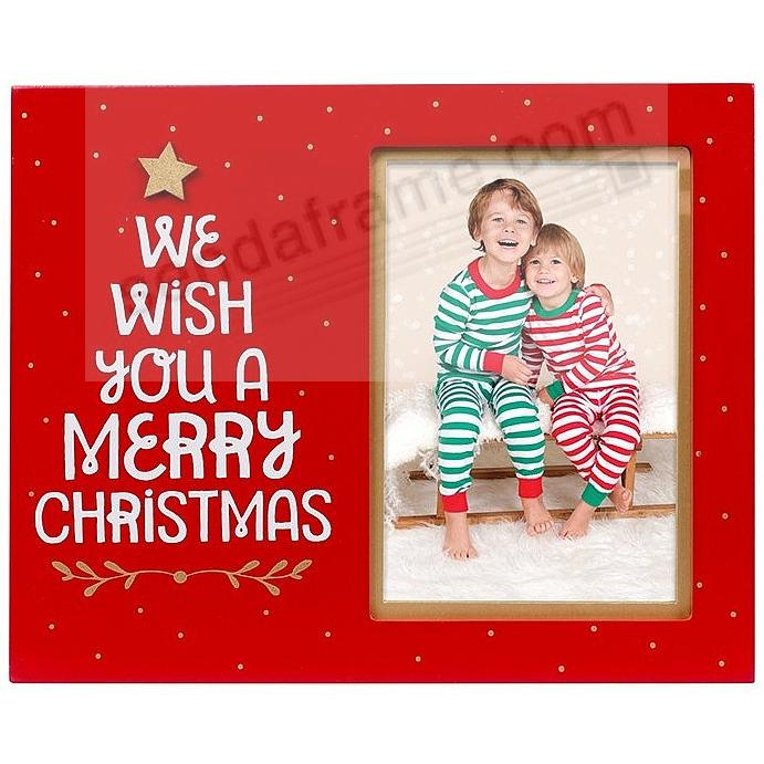 WE WISH YOU A MERRY Christmas frame by Pearhead®