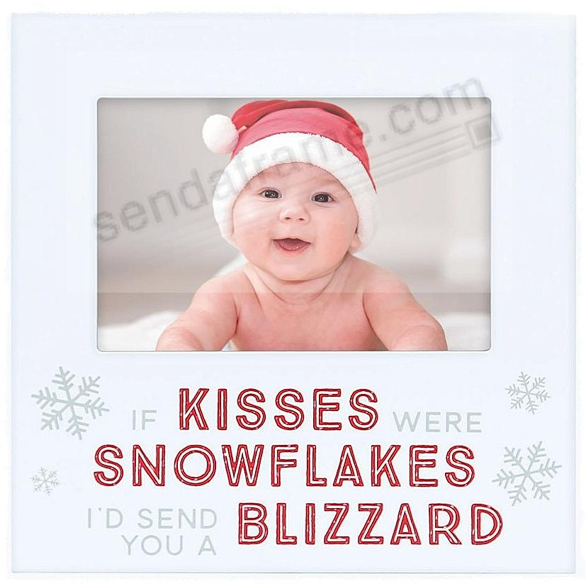 IF KISSES WERE SNOWFLAKES... Christmas frame by Pearhead®