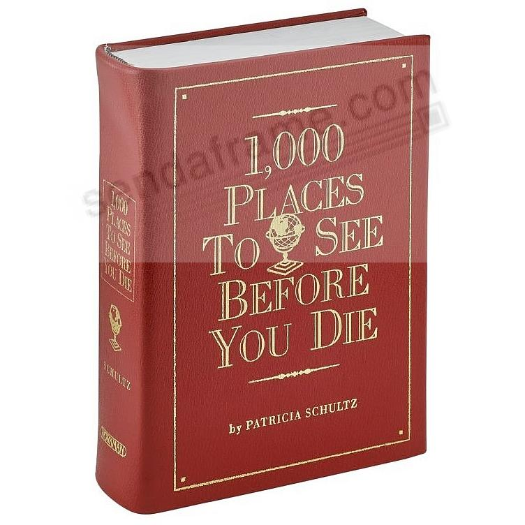 1000 PLACES TO SEE<br>BEFORE YOU DIE<br>by Patricia Schultz - Red Leather