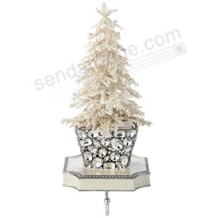 FLOCKED CRYSTAL TREE STOCKING HOLDER by Olivia Riegel®