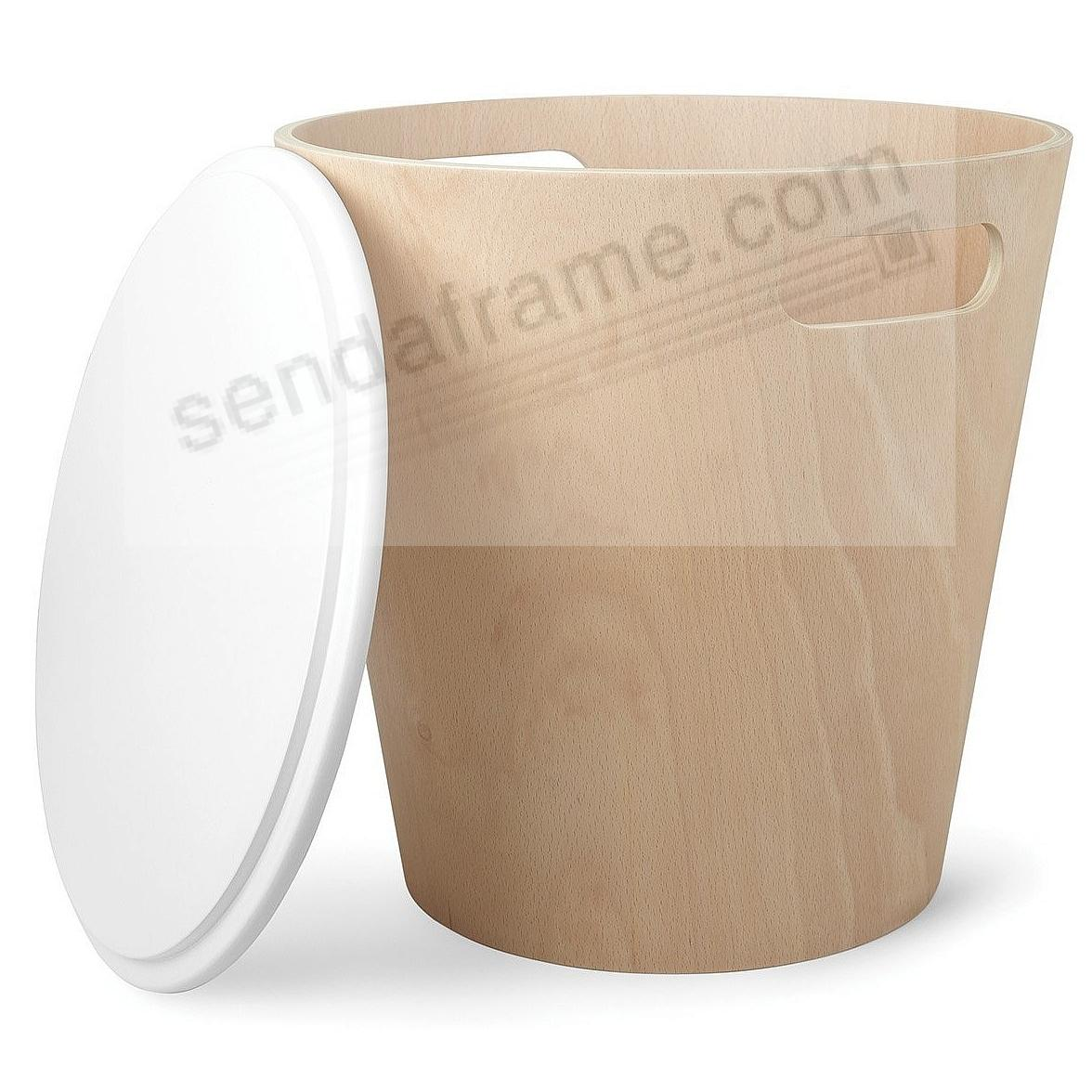 The Original WOODROW STOOL WHITE/NATURAL by Umbra®