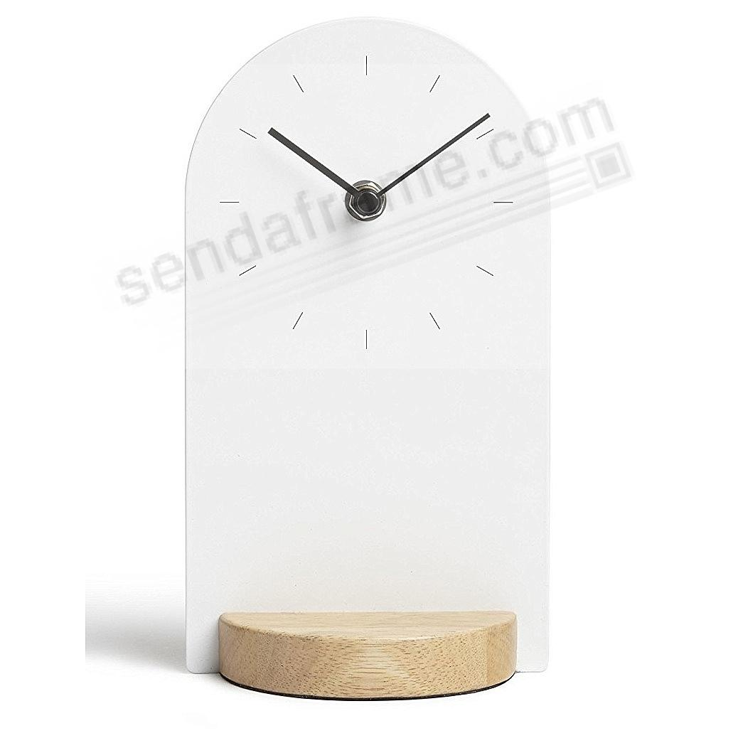 The original SOMETIME DESK CLOCK 12½in White by Umbra®