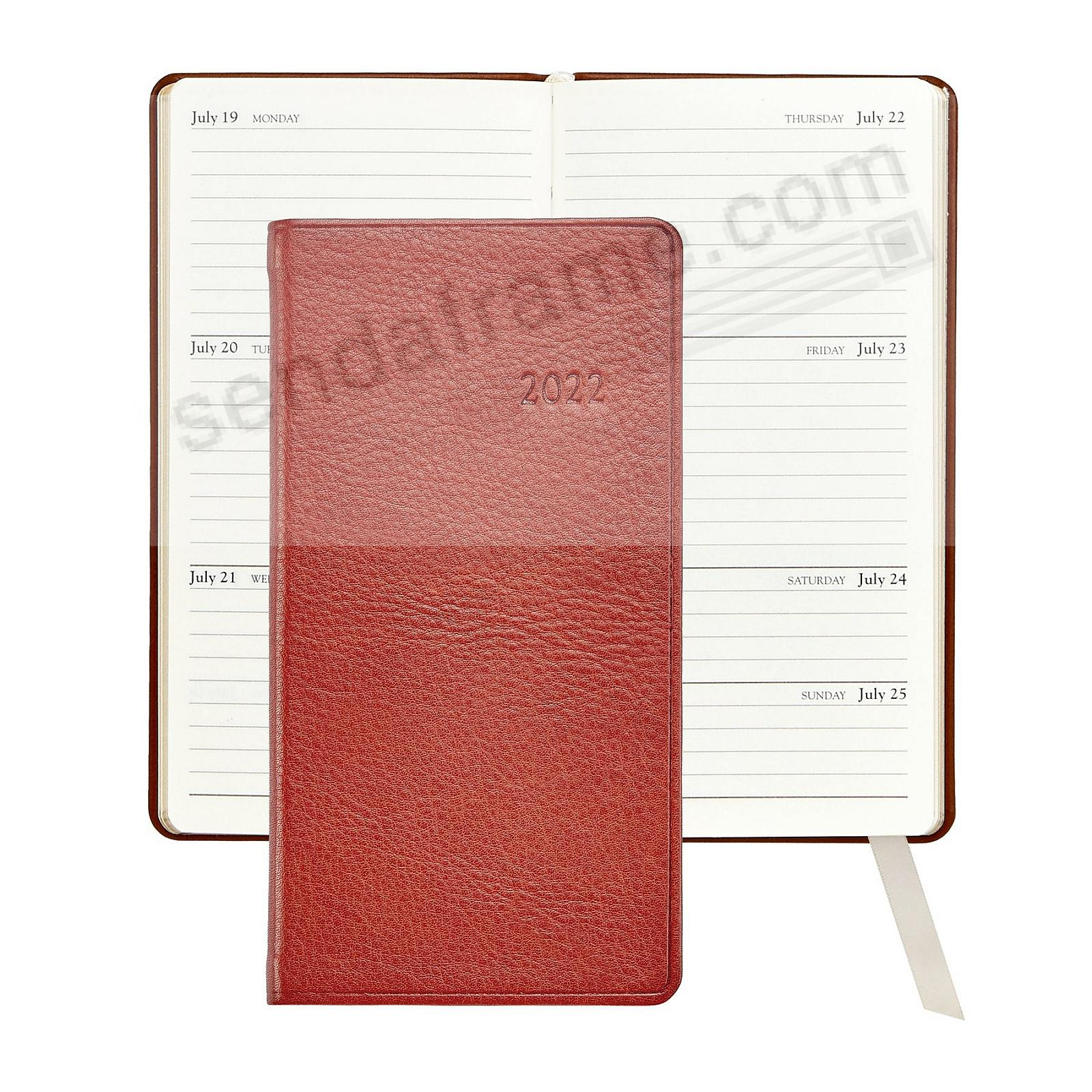2020 MAPLE 6in Pocket Datebook Fine TRADITIONAL Leather by Graphic Image™