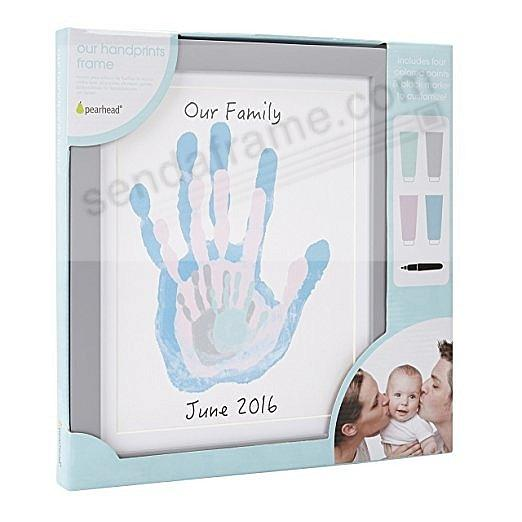 FAMILY HANDPRINT frame GREY by Pearhead®