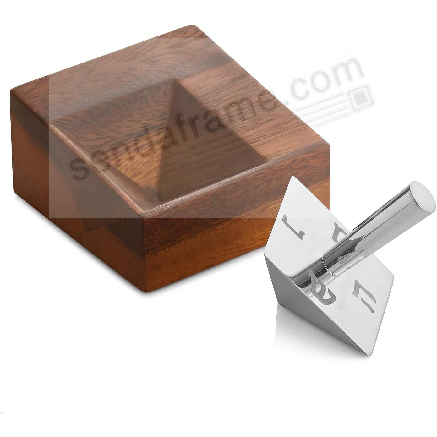 GEO DREIDEL W/STAND crafted by Nambe®