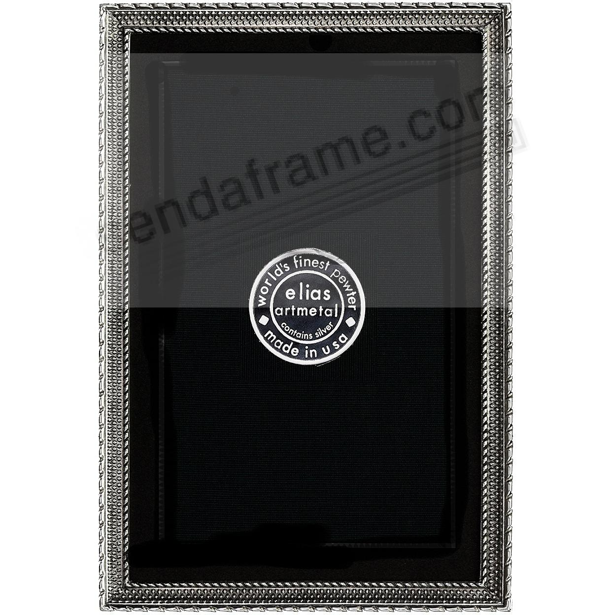 DOT-TO-DOT Fine Silvered Pewter frame 2½x3½ by Elias Artmetal®
