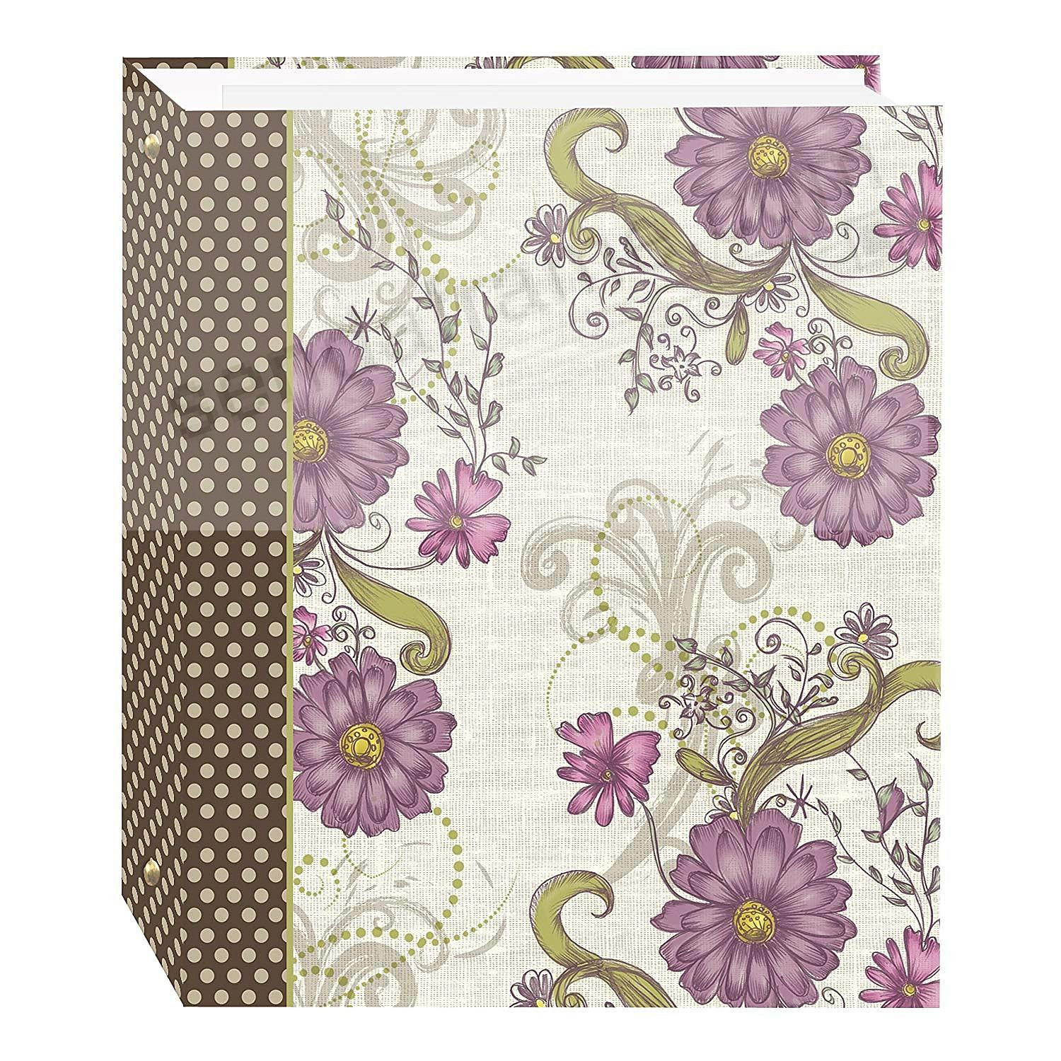 BERRY BLOSSOM Design 3-ring album<br>w/EZ-stick magnetic pages