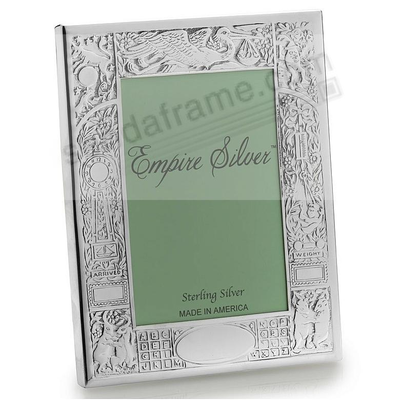 The Original Fine .925 Sterling Silver BIRTH RECORD Frame by Empire Silver®