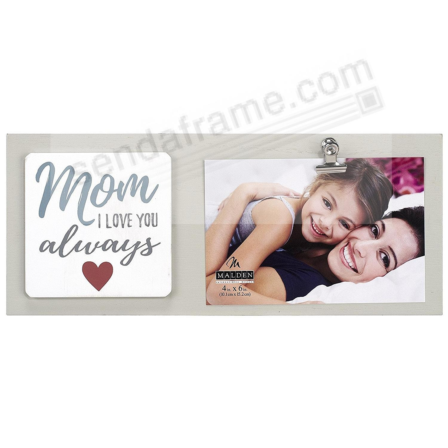 MOM I LOVE YOU ALWAYS {Heart} CLIP frame