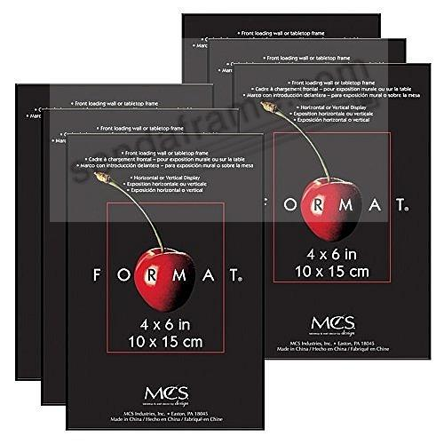(6-Pack) The ORIGINAL FORMAT Front-Load Black 4x6 frame