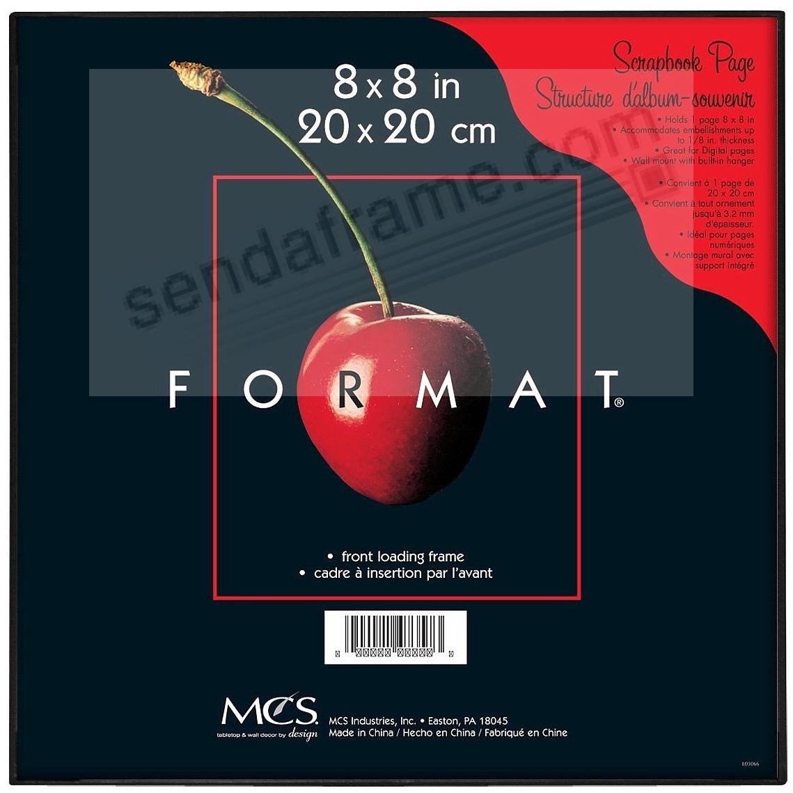 The ORIGINAL FORMAT FRONT-LOAD Black 8x8 Frame