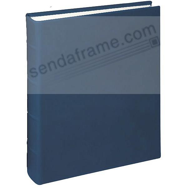JUNIOR 8x9&frac12; Bound Italian Leather Navy-Blue Album<br>by Graphic Image&trade;