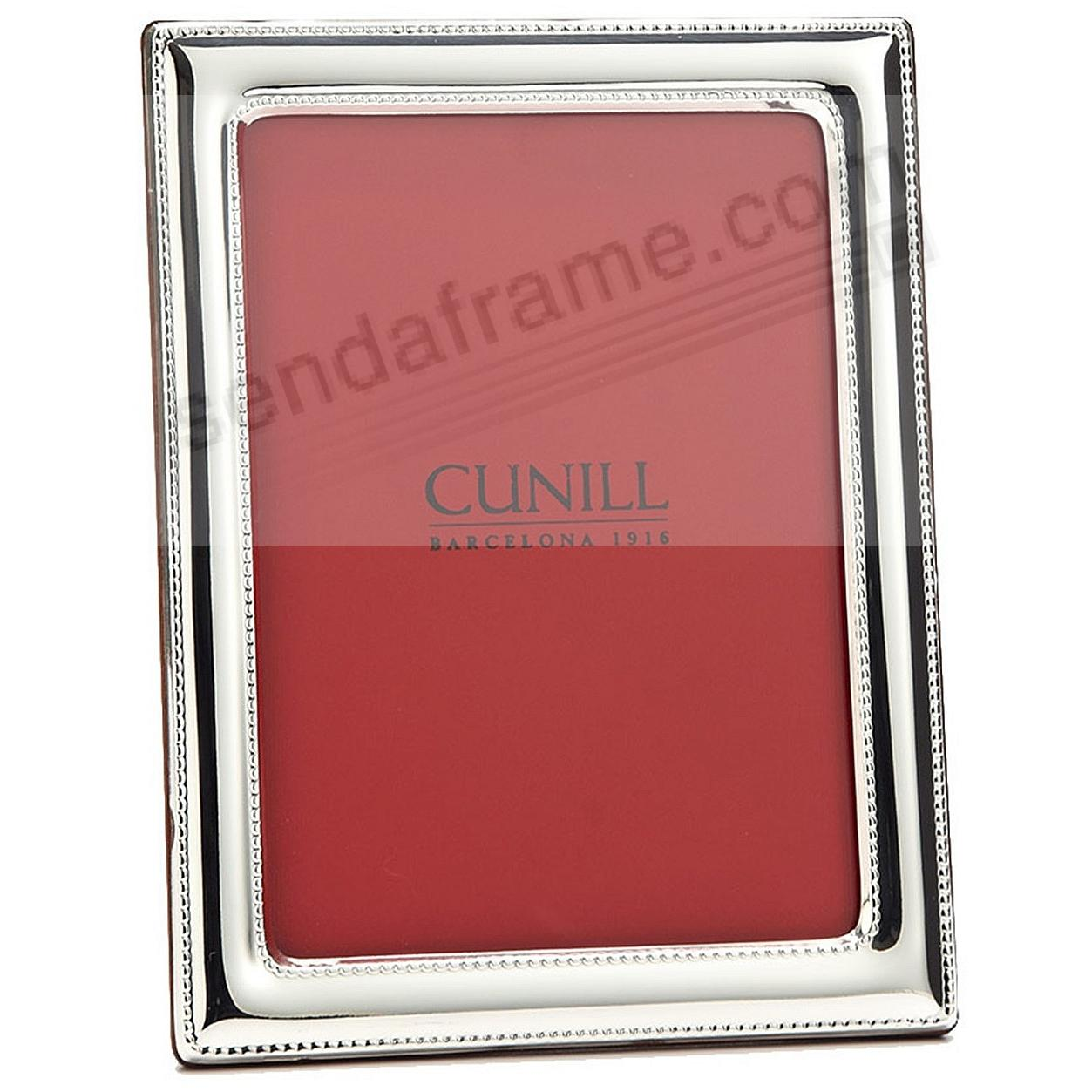 In-Out Beading Fine Sterling Silver 5x7 frame<br>by Cunill&reg;