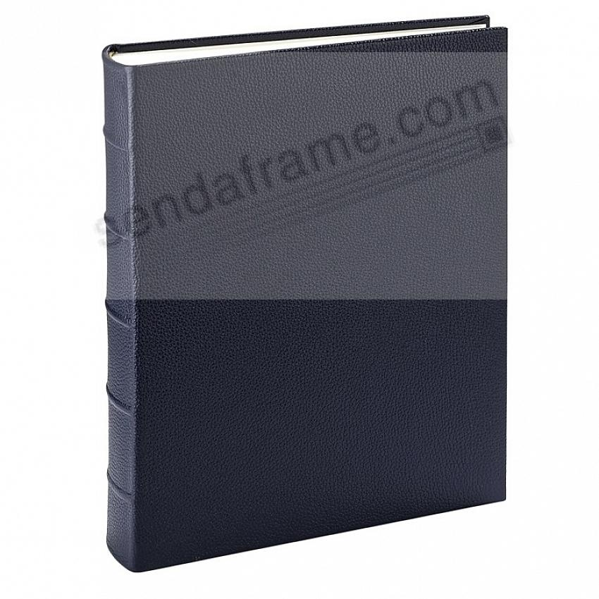 Medium 9x12 Italian Leather Navy-Blue Bound Album<br>by Graphic Image&trade;