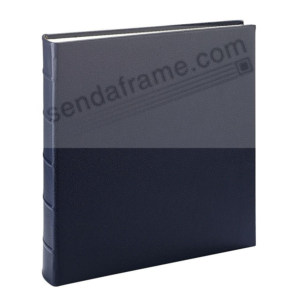 LARGE 13x13 Traditional NAVY-BLUE Leather Bound Album<br>by Graphic Image&trade;