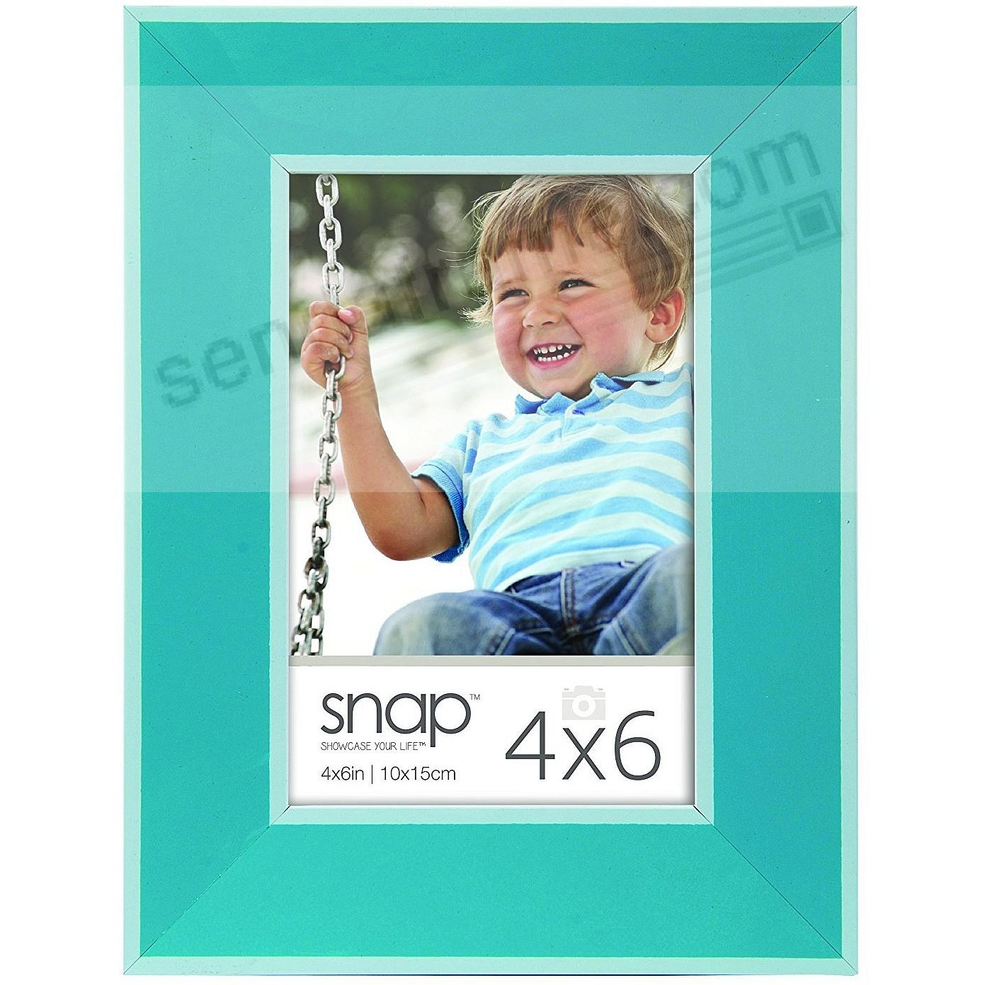 TURQUOISE w/White Accent 4x6 frame by SNAP®