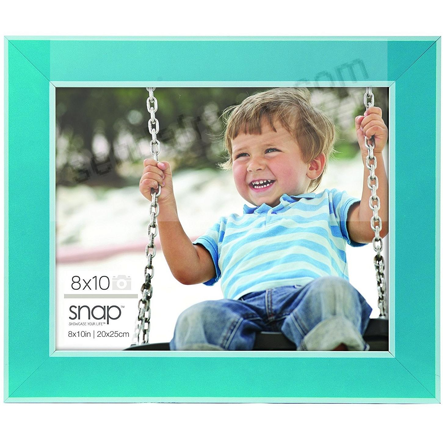 TURQUOISE w/WHITE ACCENT 8x10 frame by SNAP®