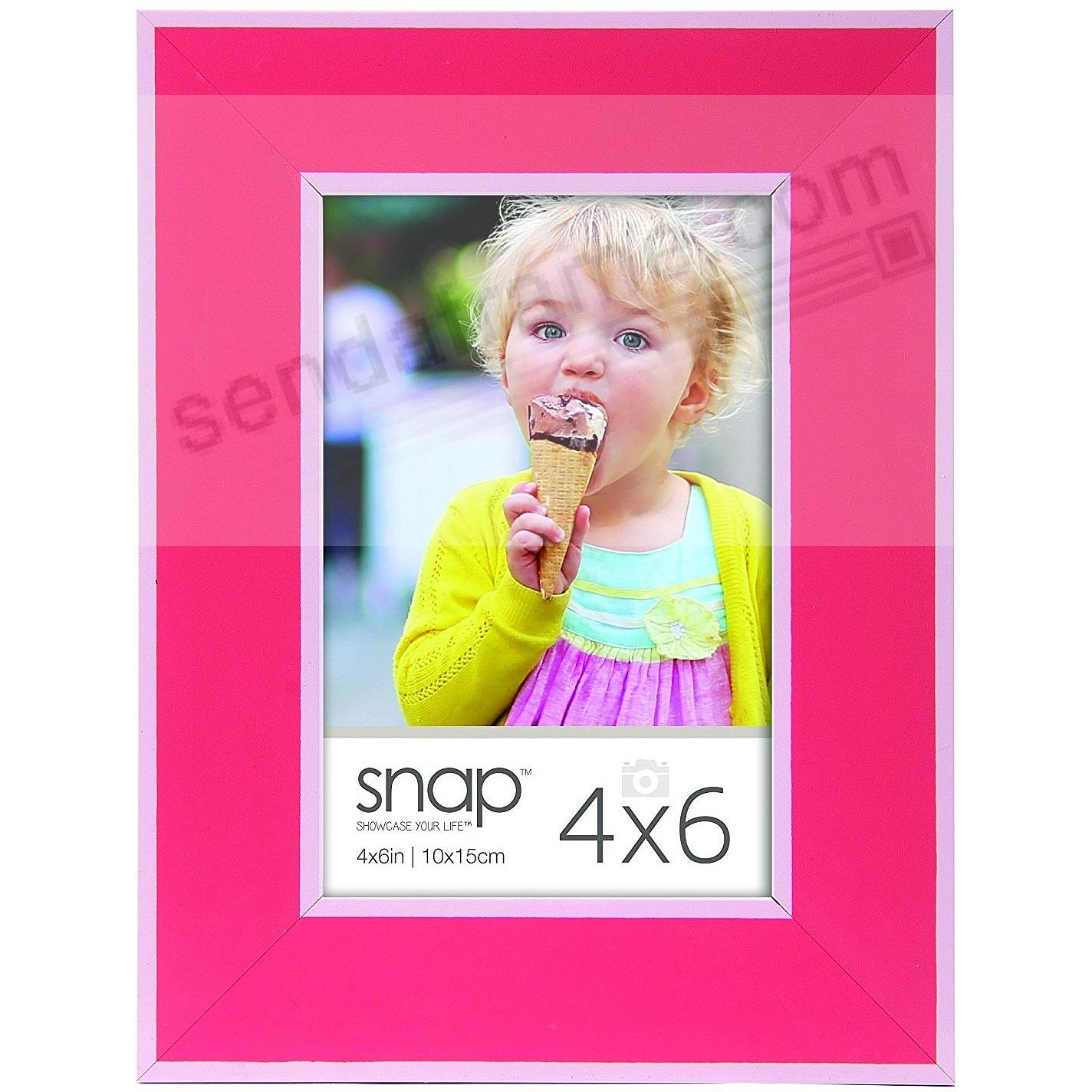 PINK w/White Accent 4x6 frame by SNAP®