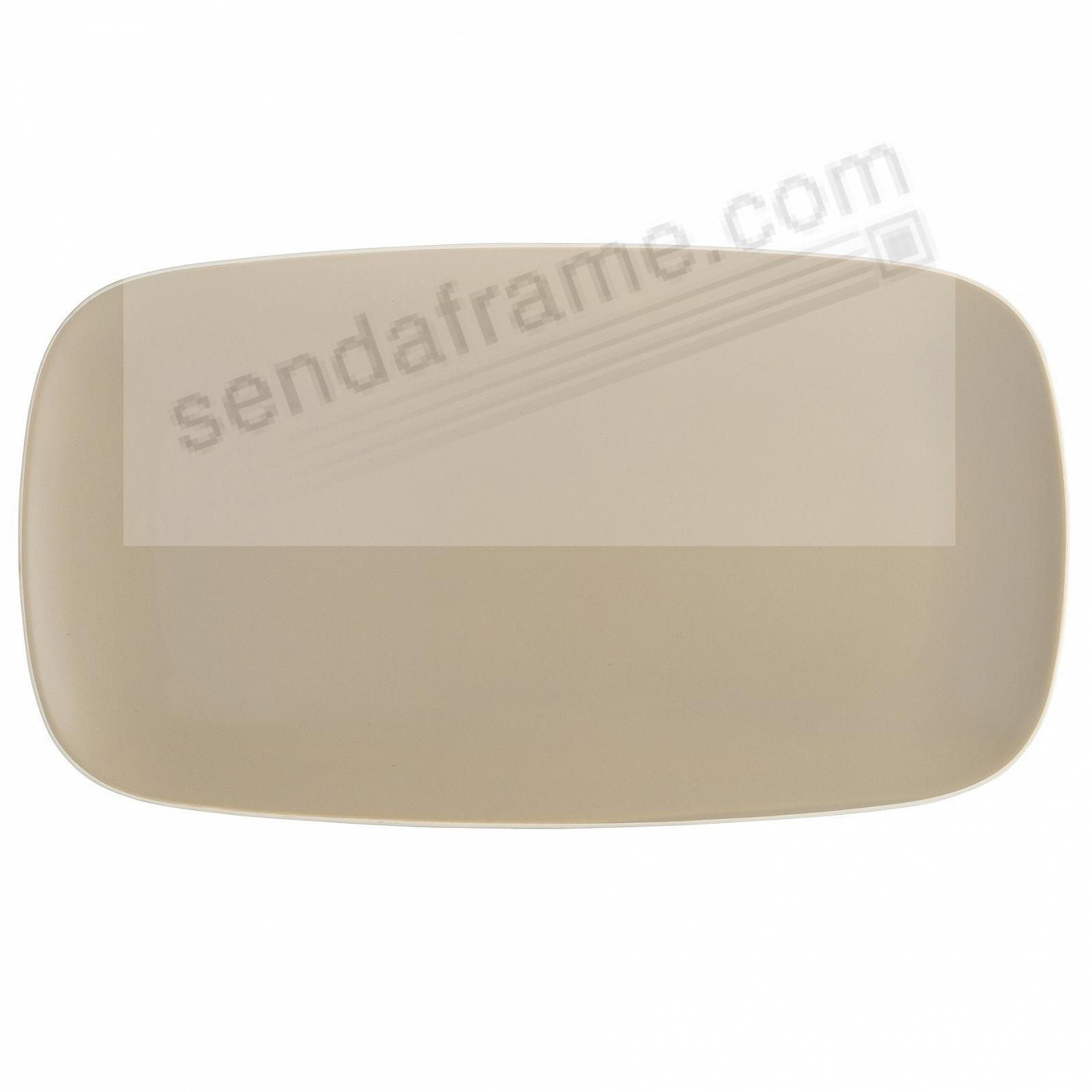POP SOFT RECTANGULAR PLATTER SAND by Nambe®