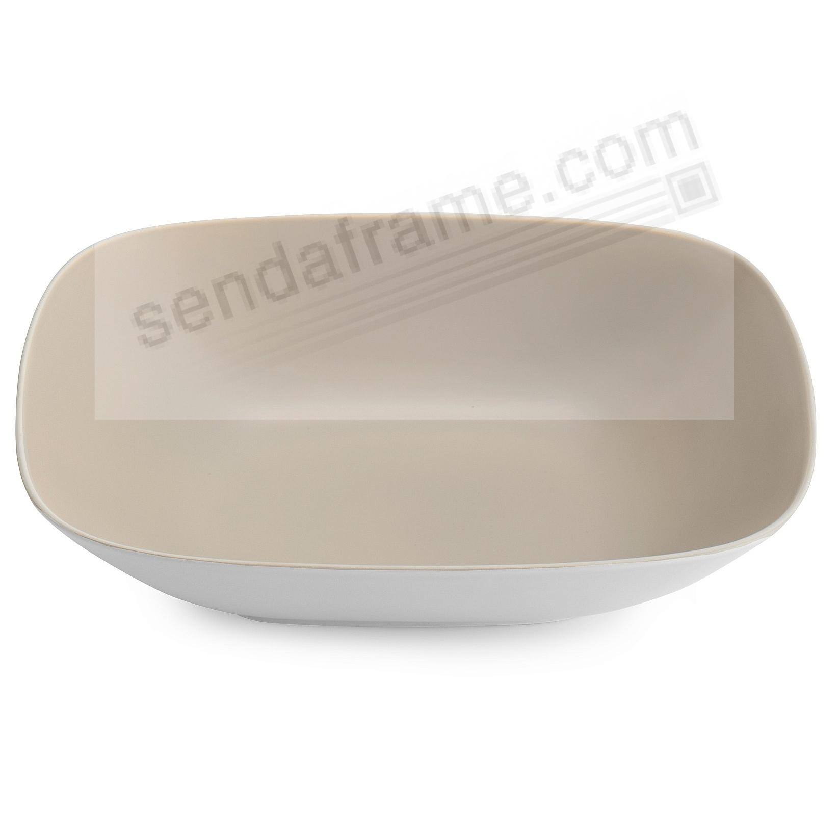 POP SOFT SQUARE SERVING BOWL SAND by Nambe®