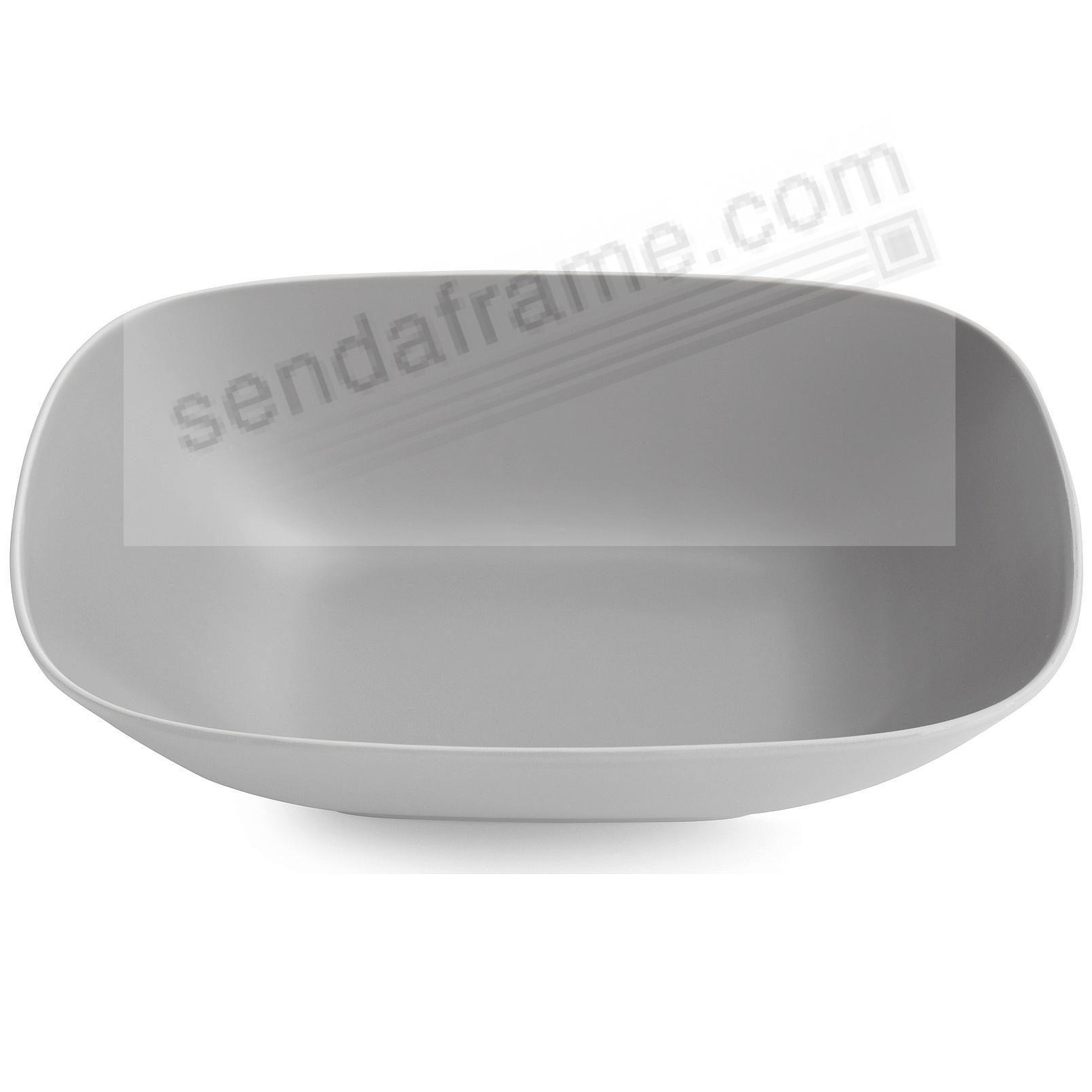 POP SOFT SQUARE SERVING BOWL SLATE-GREY by Nambe®