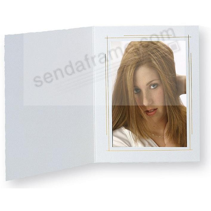 WHITEHOUSE Paper Portrait Photo-mount Folder 4x6 frame w/gold foil border by TAP® (10's)