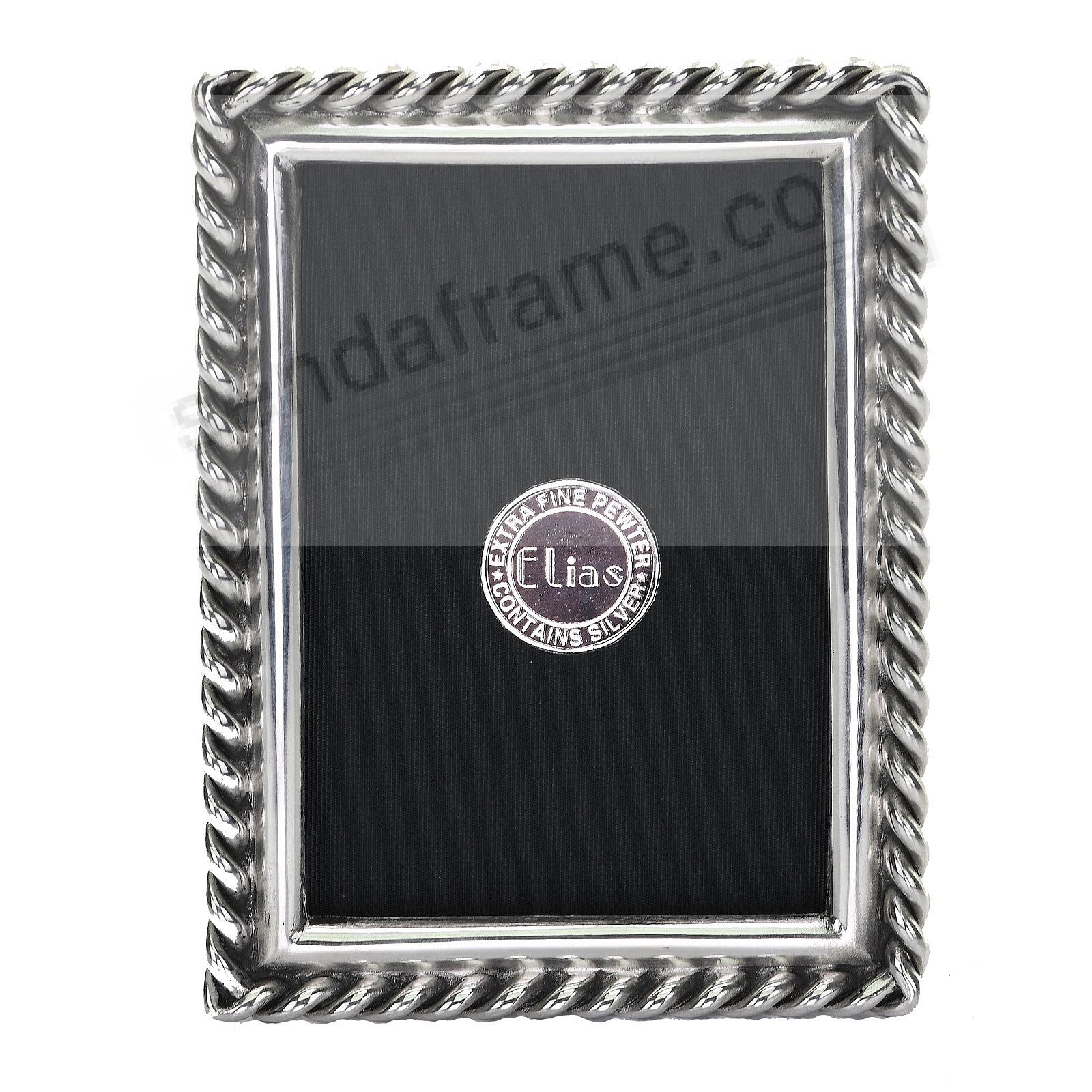 CHAIN Fine Silvered Pewter frame 2½x3½ by Elias Artmetal®