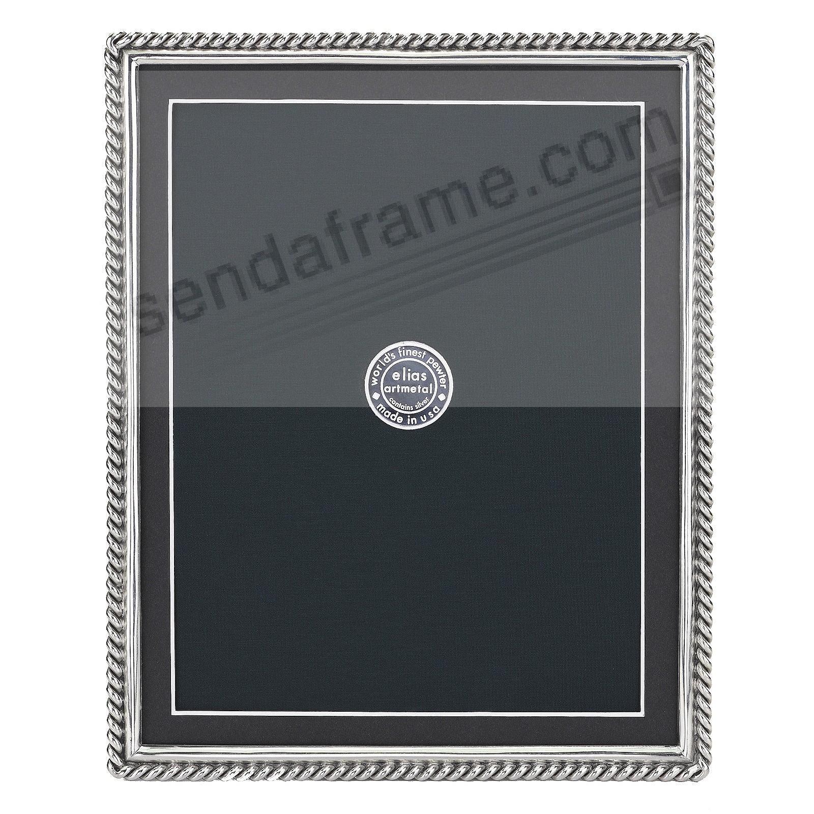 CHAIN Fine Silvered Pewter frame 8x10/7x9 by Elias Artmetal®