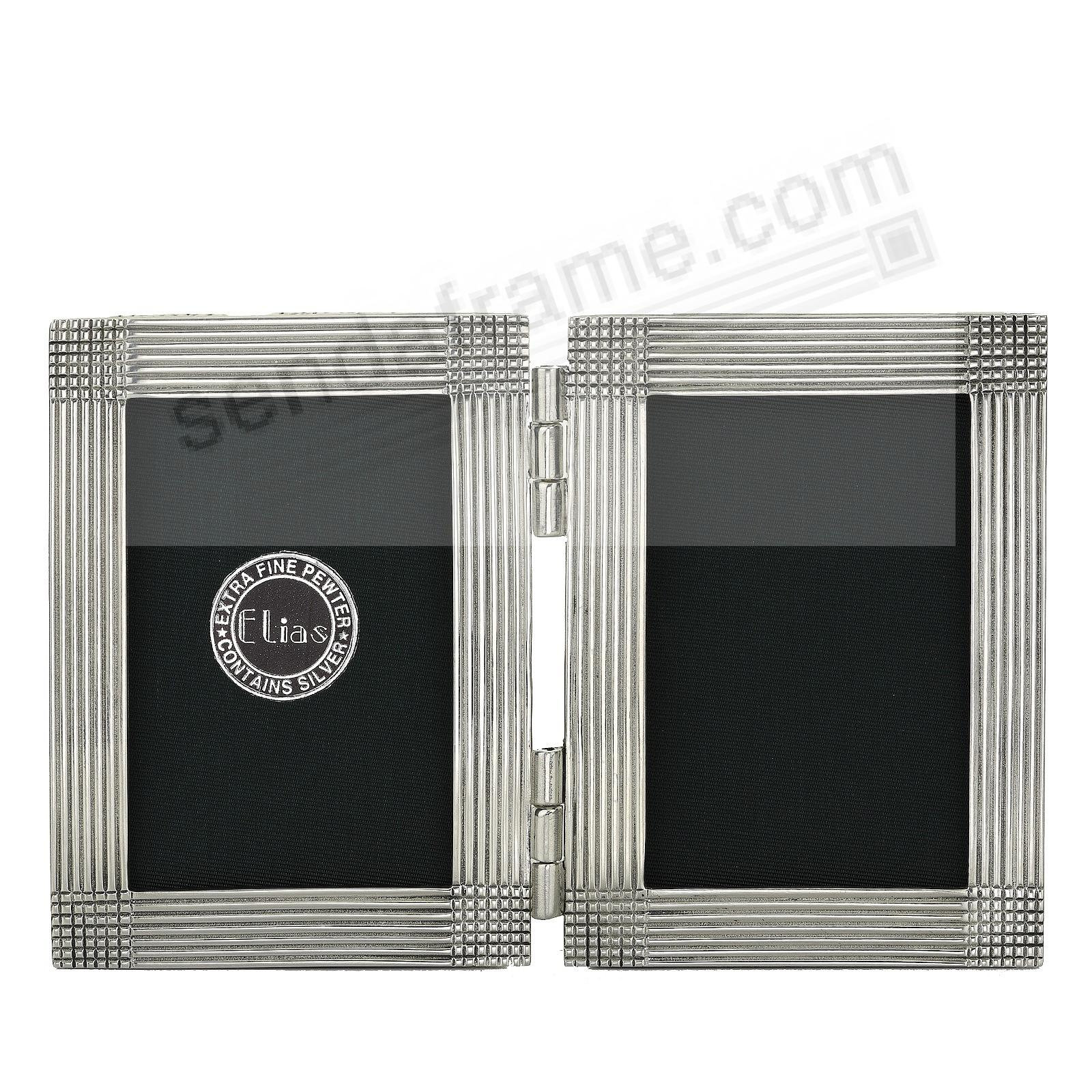 MATRIX DOUBLE luxe silvered fine pewter 2x3 by Elias Artmetal®