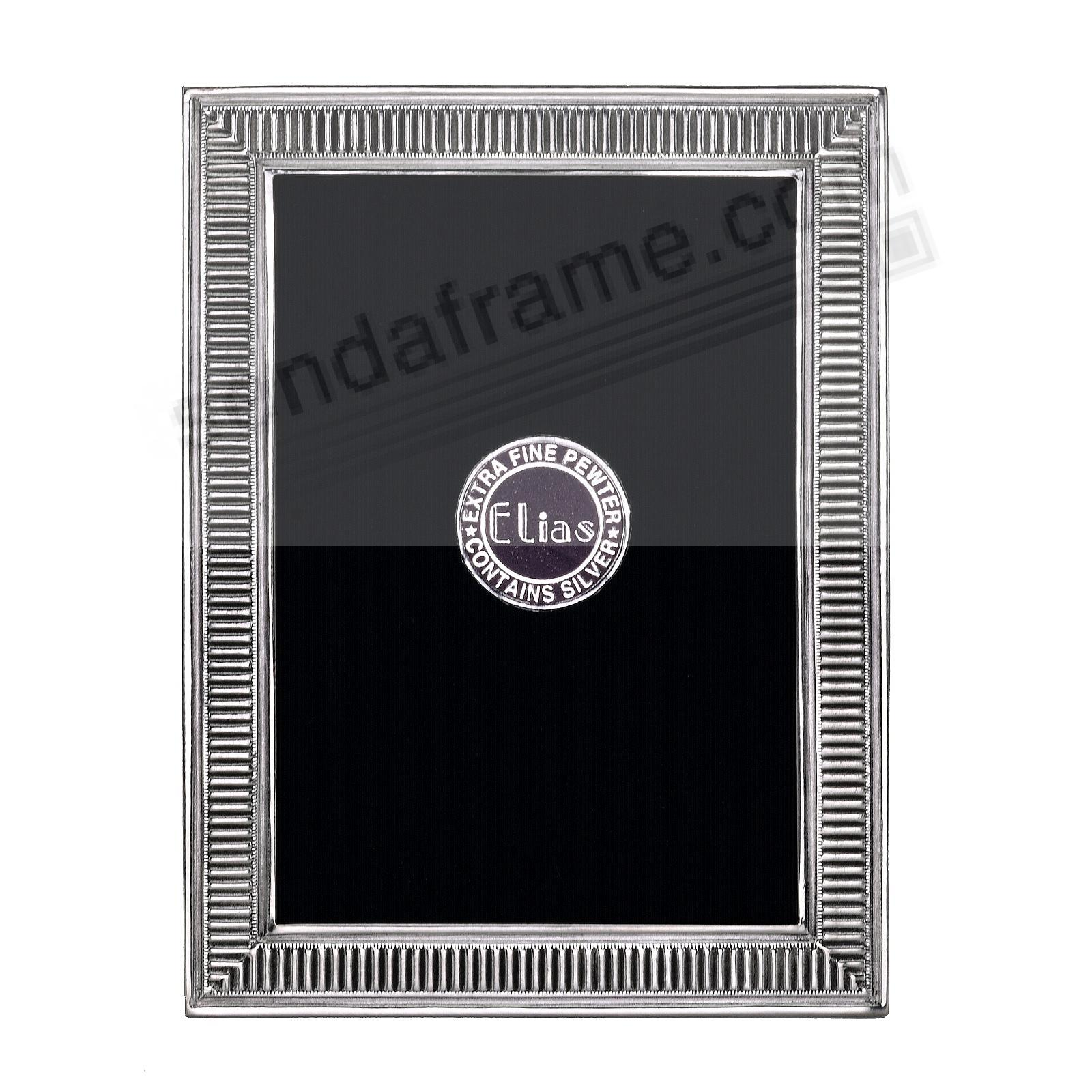 LINE BY LINE Fine Silvered Pewter frame 2½x3½ by Elias Artmetal®