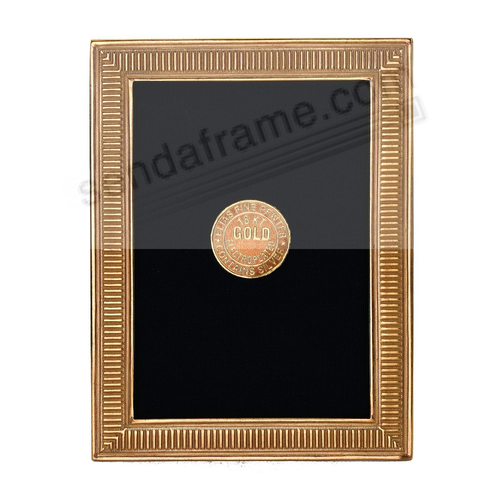 LINE BY LINE 18kt Museum Gold over Fine Pewter frame 2½x3½ by Elias Artmetal®