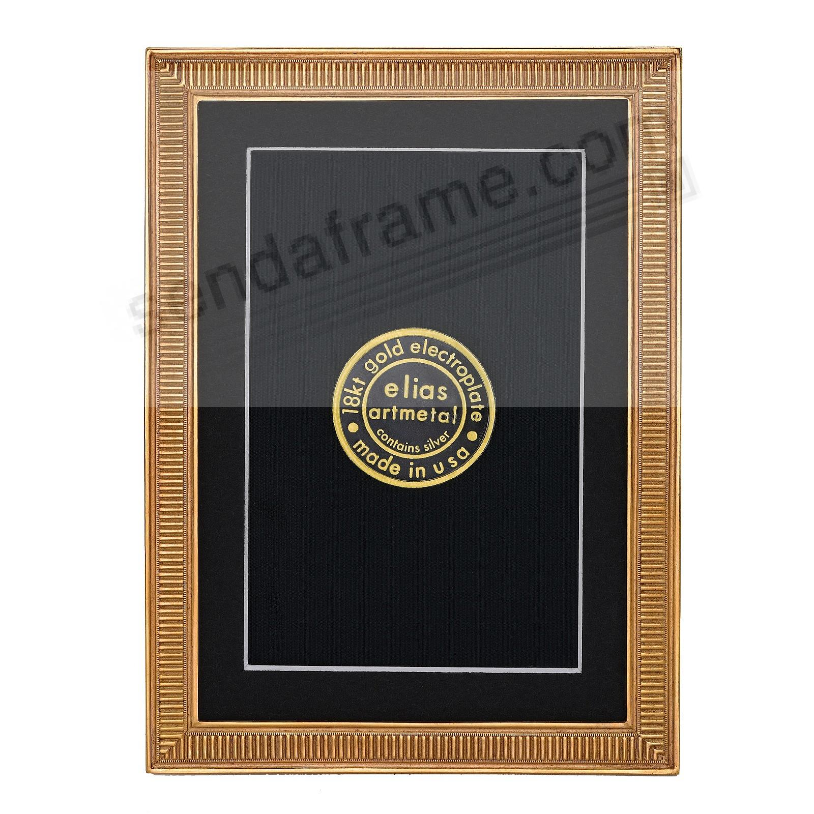 LINE BY LINE 18kt Museum Gold over Fine Pewter frame 3½x5 by Elias Artmetal®