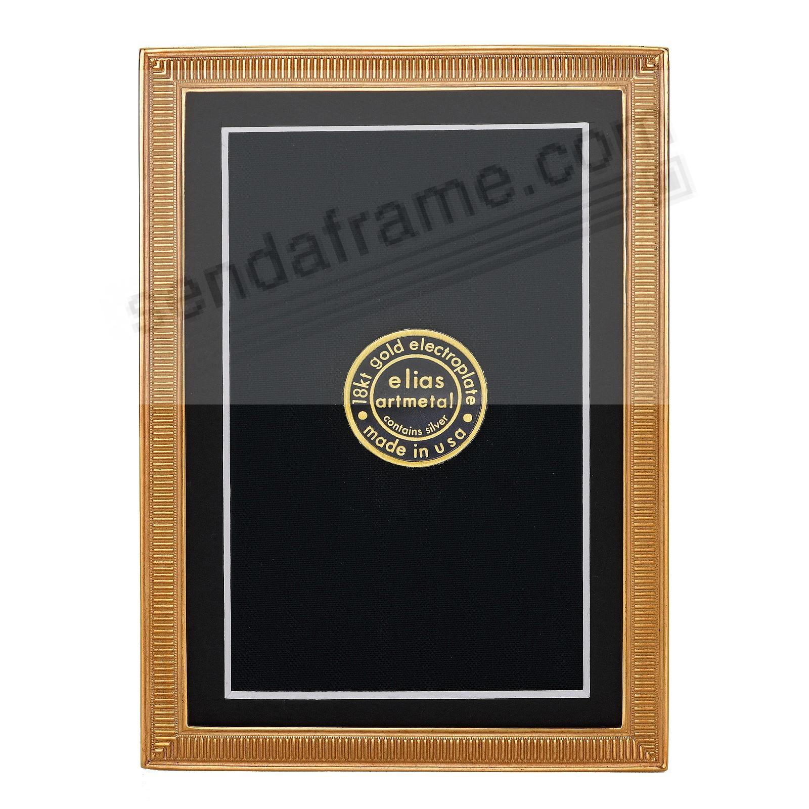 LINE BY LINE 18kt Museum Gold over Fine Pewter frame 4x6/3½x5½ by Elias Artmetal®