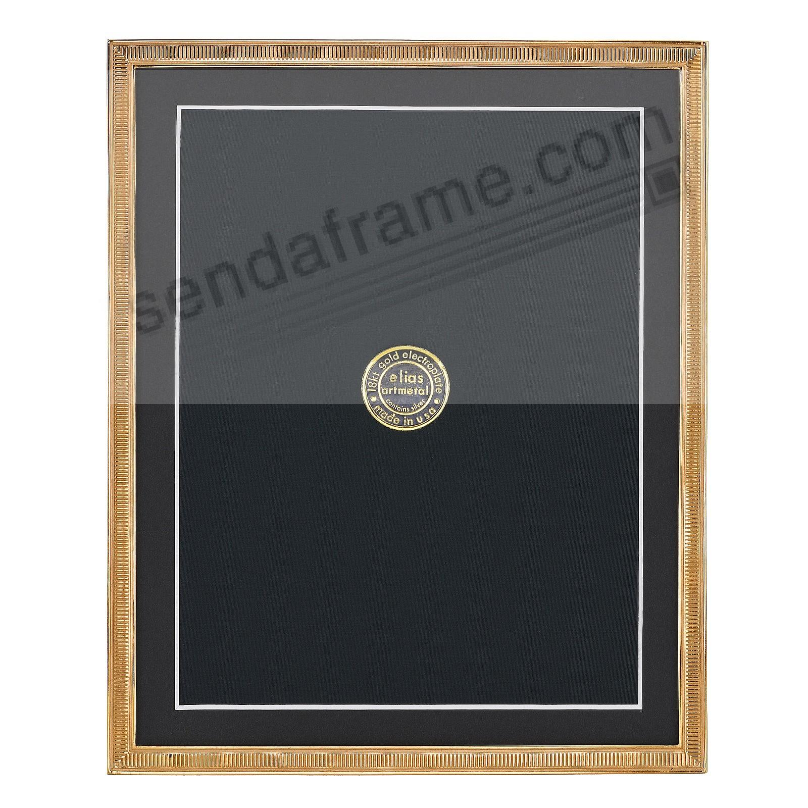 LINE BY LINE 18kt Museum Gold over Fine Pewter frame 8x10/7x9 by Elias Artmetal®