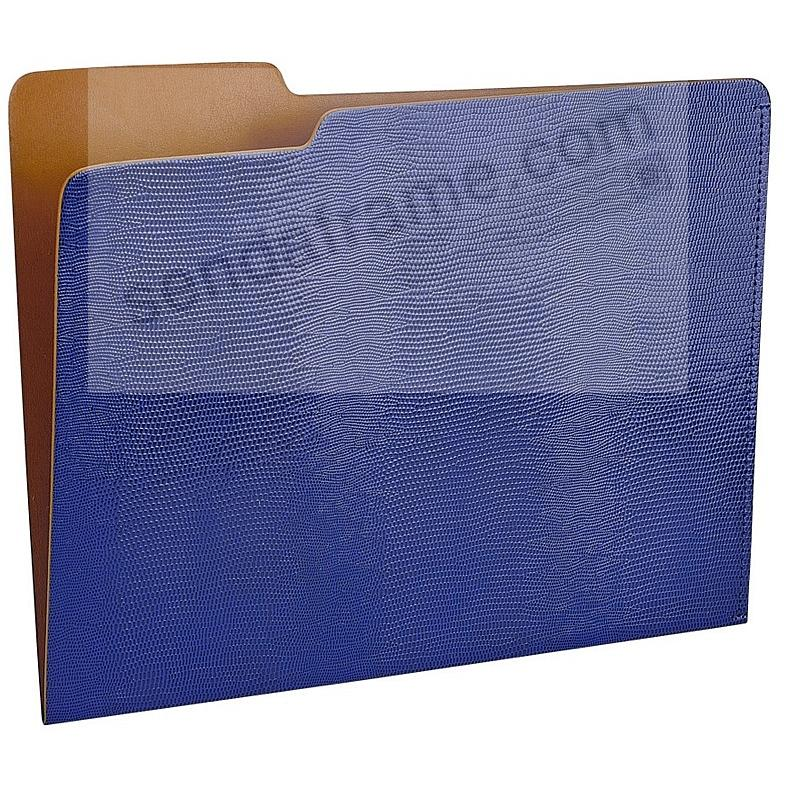 The CARLO File Folder BLUE/Tan Lizard-Embossed Paper by Graphic Image®