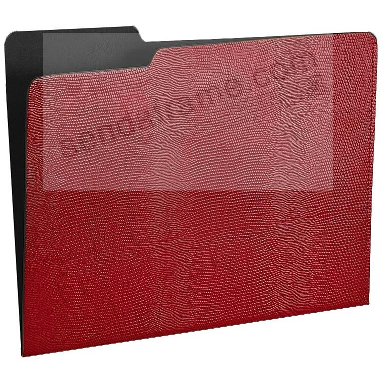 The CARLO File Folder RED/Black Lizard-Embossed Paper by Graphic Image®