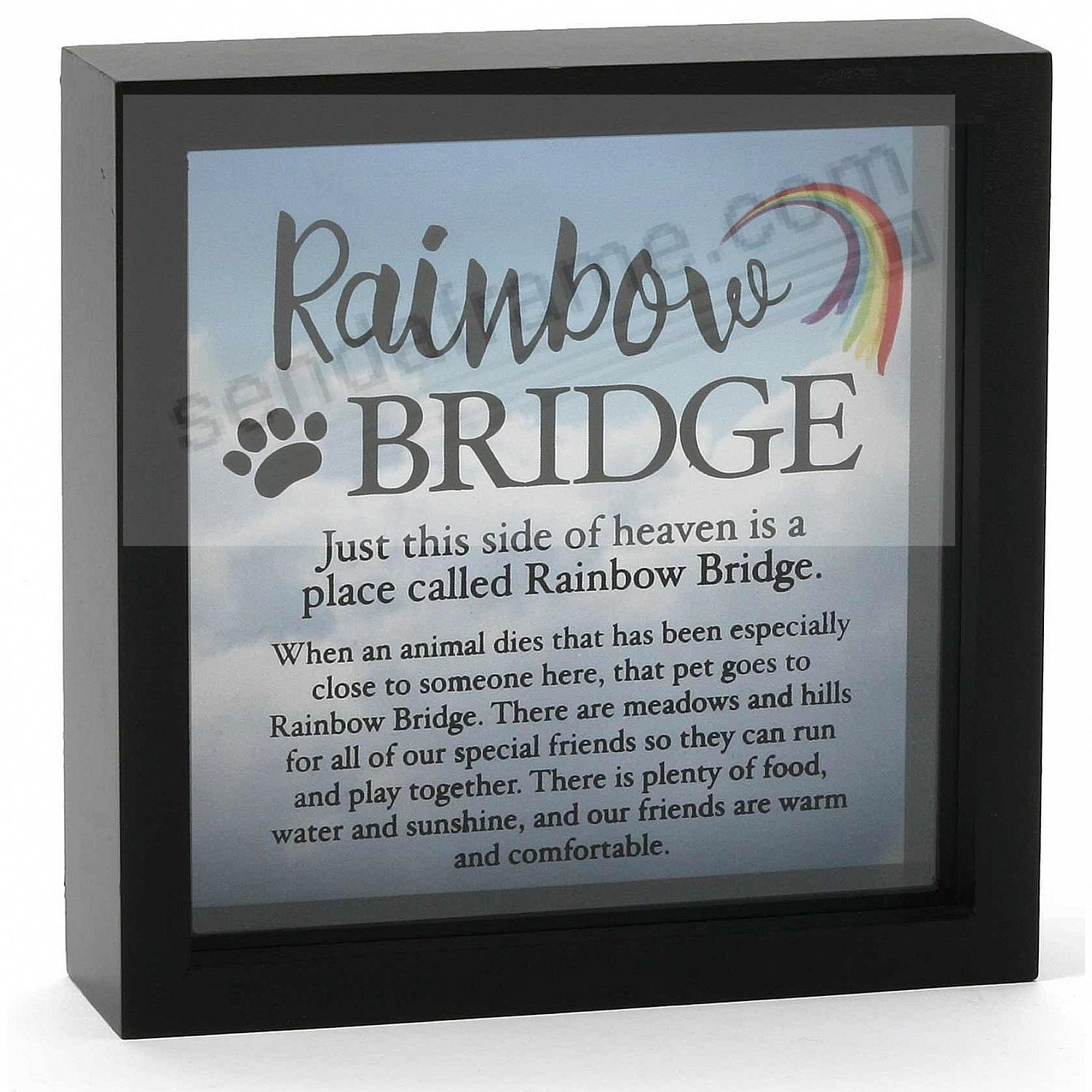 RAINBOW BRIDGE PET MEMORY BOX by Our Name is Mud®