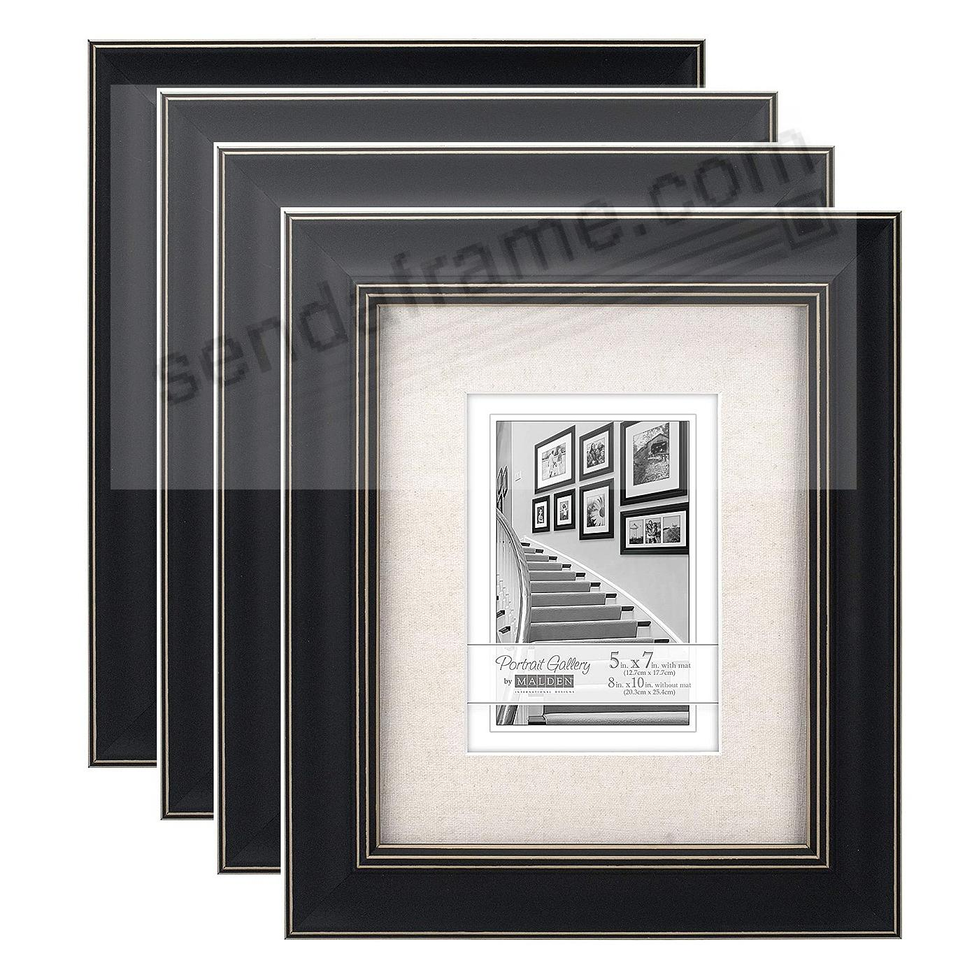 (4-Pack) BARNSIDE Weathered Black 8x10/5x7 frame by Malden®