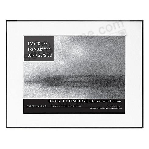 FINE LINE Black Aluminum 11x14/8½x11 by Framatic®