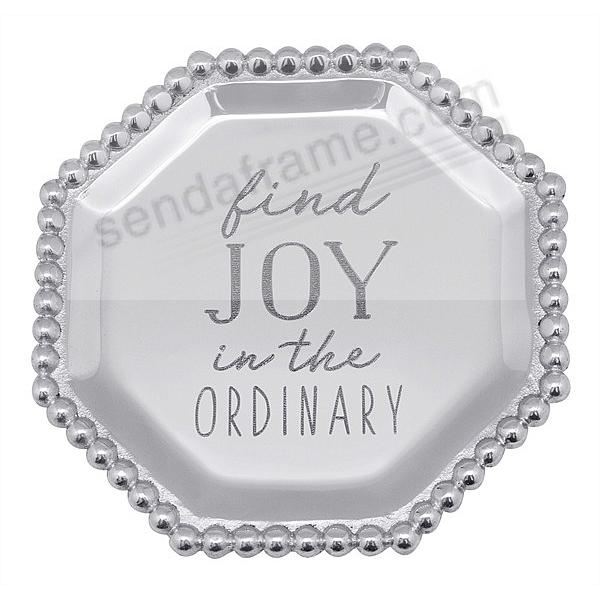 FIND JOY IN THE ORDINARY - PEARLED OCTAGONAL CANAPE PLATE by Mariposa®