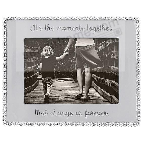 THE MOMENTS TOGETHER ... - BEADED BORDER frame for your 5x7 print by Mariposa®