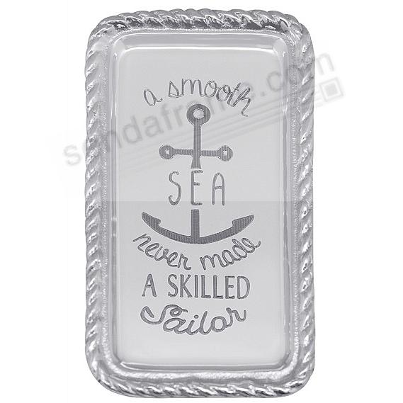 A SMOOTH SEA ... ROPE STATEMENT TRAY (blank) by Mariposa®